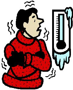 Feeling cold clipart.