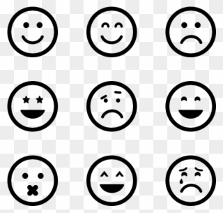 Emotion Icon Packs Vector Svg Psd.