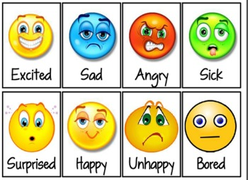 Feelings faces clip art.