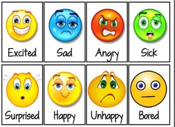 Feelings faces clip art.