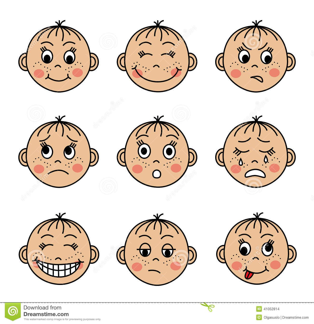 Feeling faces clipart Clipart Collection.