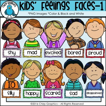 Feelings Faces Clipart Worksheets & Teaching Resources.