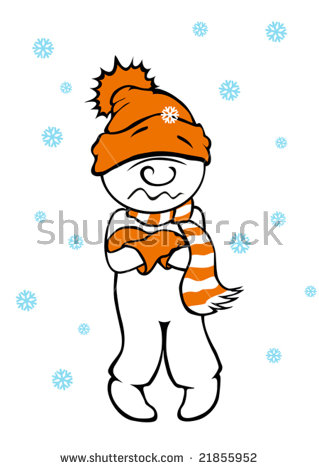 Cold Shivering Stock Images, Royalty.