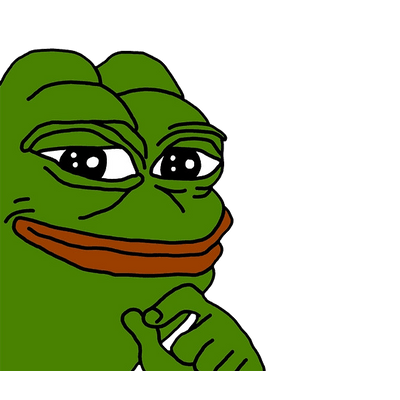 Happy Pepe FeelsGoodMan transparent PNG.