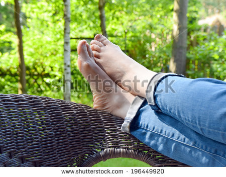 Feet Up Relax Stock Images, Royalty.