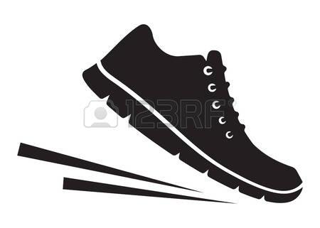 Walking feet feet running clipart.