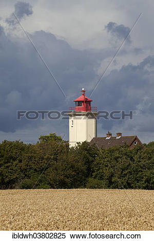 "Stock Image of ""Leuchtturm Westermarkelsdorf lighthouse, Fehmarn."