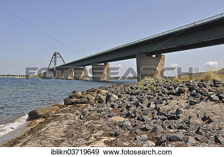 "Stock Photograph of ""Fehmarn Sound Bridge, Grossenbrode, Schleswig."