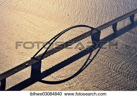 "Stock Photography of ""Aerial view, Fehmarnsund Bridge, Fehmarn."