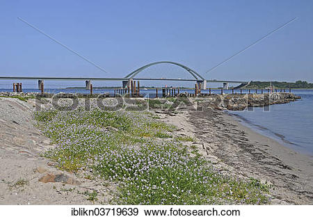 "Stock Photograph of ""Fehmarn Sound Bridge, Fehmarn, Fehmarn Island."