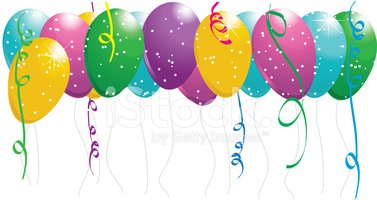 Party Balloon Runner stock vectors.