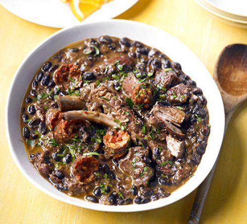 Black bean & meat stew.