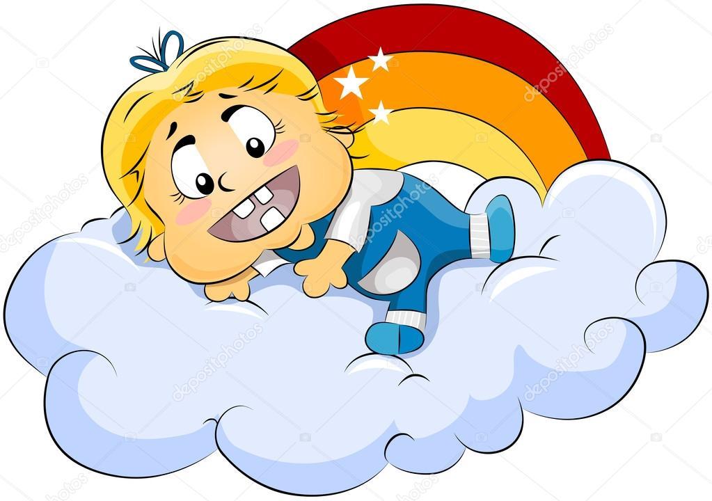 Baba a felhők — Stock Fotó © lenmdp #7734554.