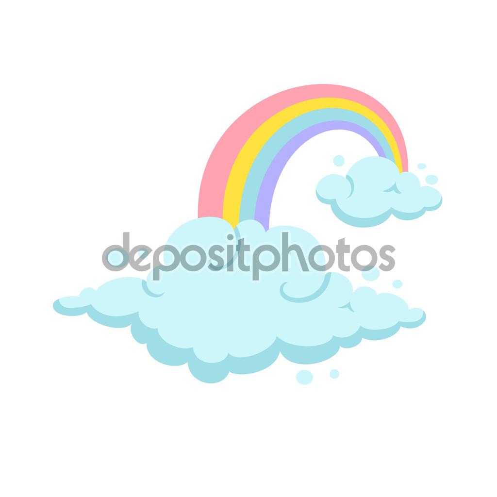 Rainbow és a felhők — Stock Vektor © nordfox #111495094.