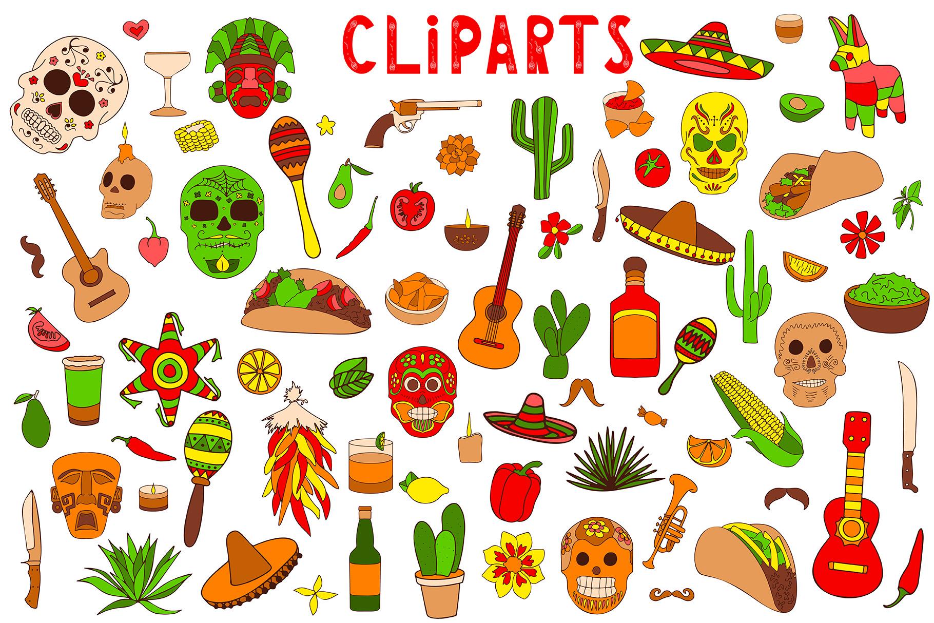 Felices Fiestas Clipart + Lettering.