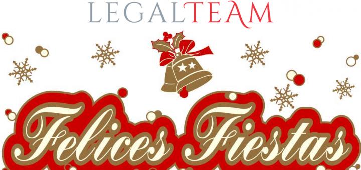 El equipo de Legalteam os desea felices fiestas.