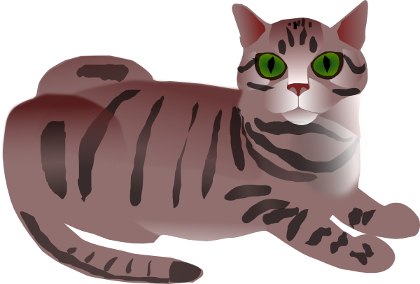 Tabby Cat Clip Art at Clker.com.
