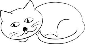 Feline Clipart Image.