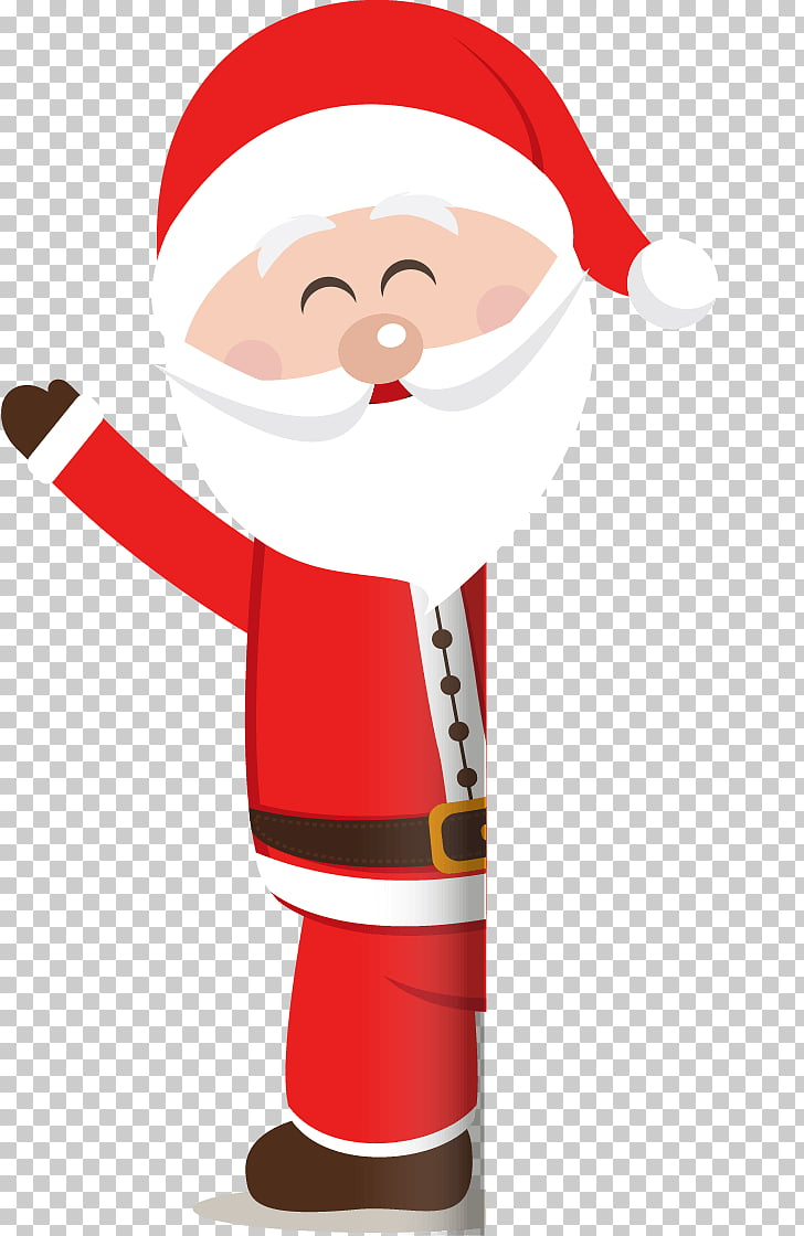 Christmas card Santa Claus Campsite Merry Christmas 2017.