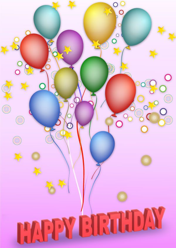 Free Vector Happy Birthday Background.