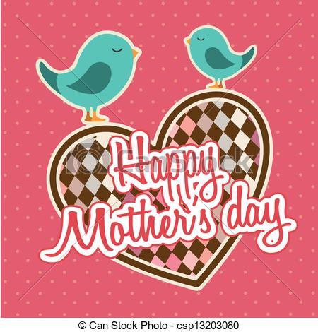 Vector de feliz, día, madres.