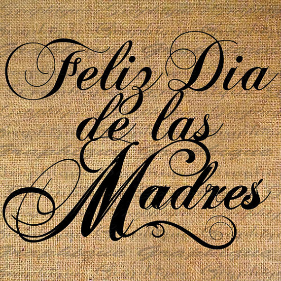 Feliz Dia De Las Madres Clipart.