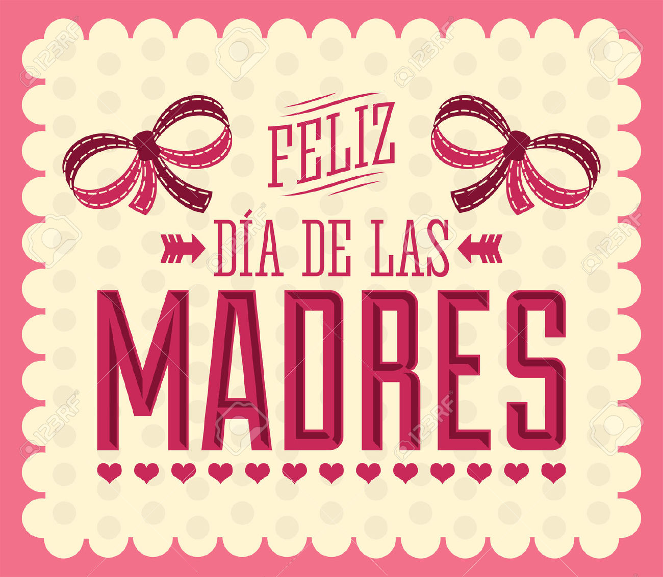 Feliz Dia De Las Madres, Happy Mother S Day Spanish Text.
