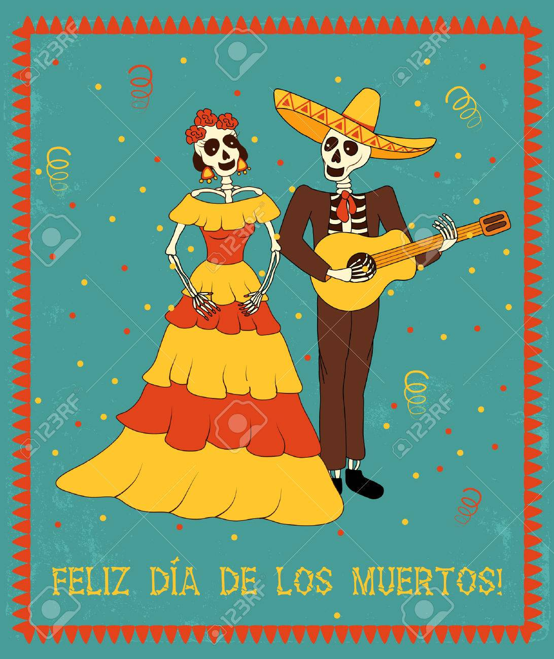 vector poster in traditional mexican style with the spanish text...