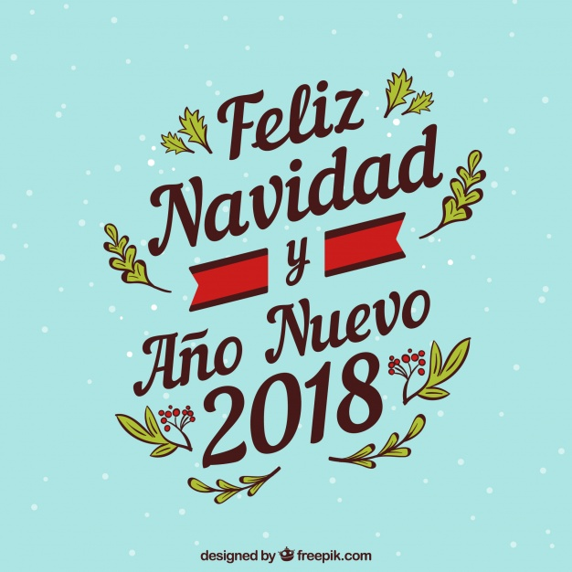 Feliz navidad lettering background Vector.