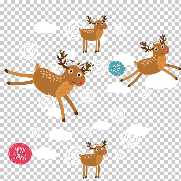 Navidad de renos, material de fondo transparente de renos de.