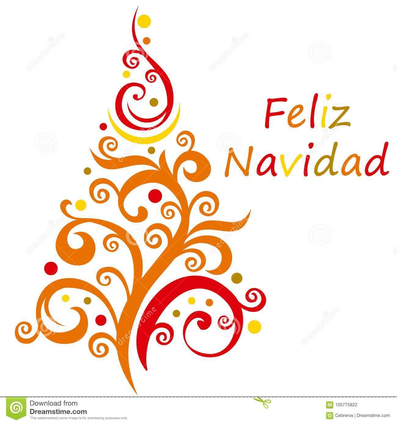 Feliz Navidad stock illustration. Illustration of background.