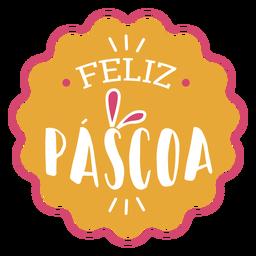 Feliz pascoa handwritten lettering.