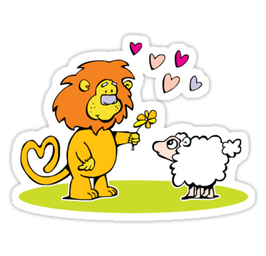 "And so the lion fell in love with the lamb"" Stickers by Matt."