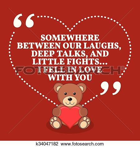 Clipart of Inspirational love marriage quote. Somewhere between.