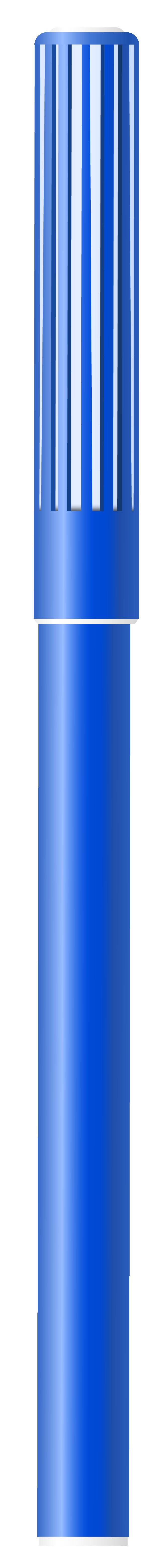 Blue Felt Tip Pen PNG Clipart Image.