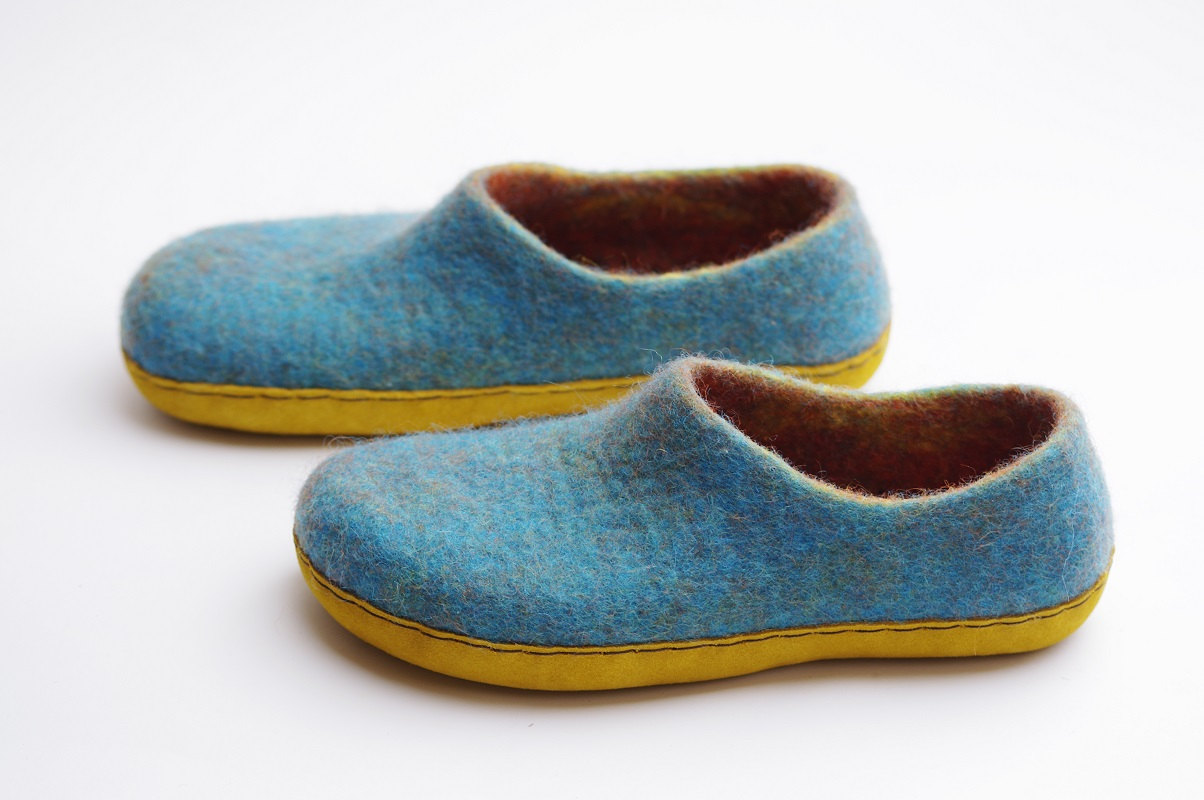 Felted slippers.