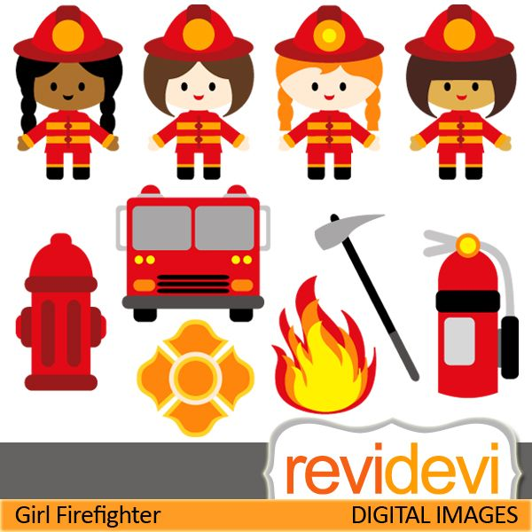Firefighters nat work clipart.