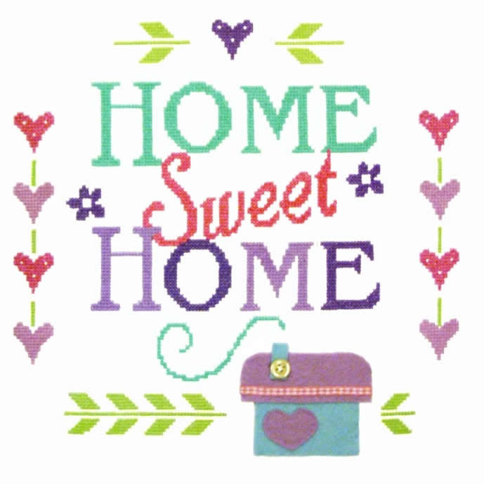 Home Sampler Cross Stitch Felty Kit only £18.25.