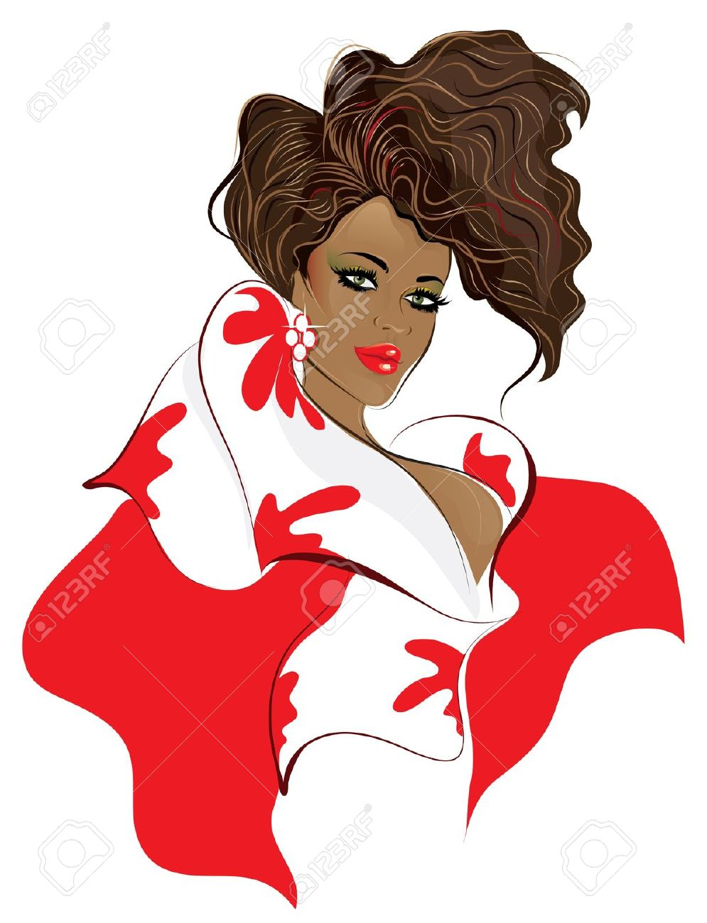 female afro clipart - Clipground