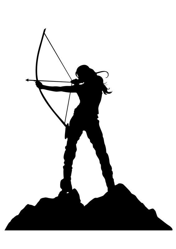 Archery arrow silhouette ciij.