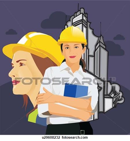 Architect clipart female architect, Architect female.