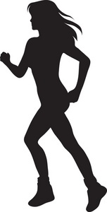 Female Athlete Silhouette Clipart.