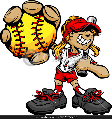 Showing post & media for Cartoon female baseball players.