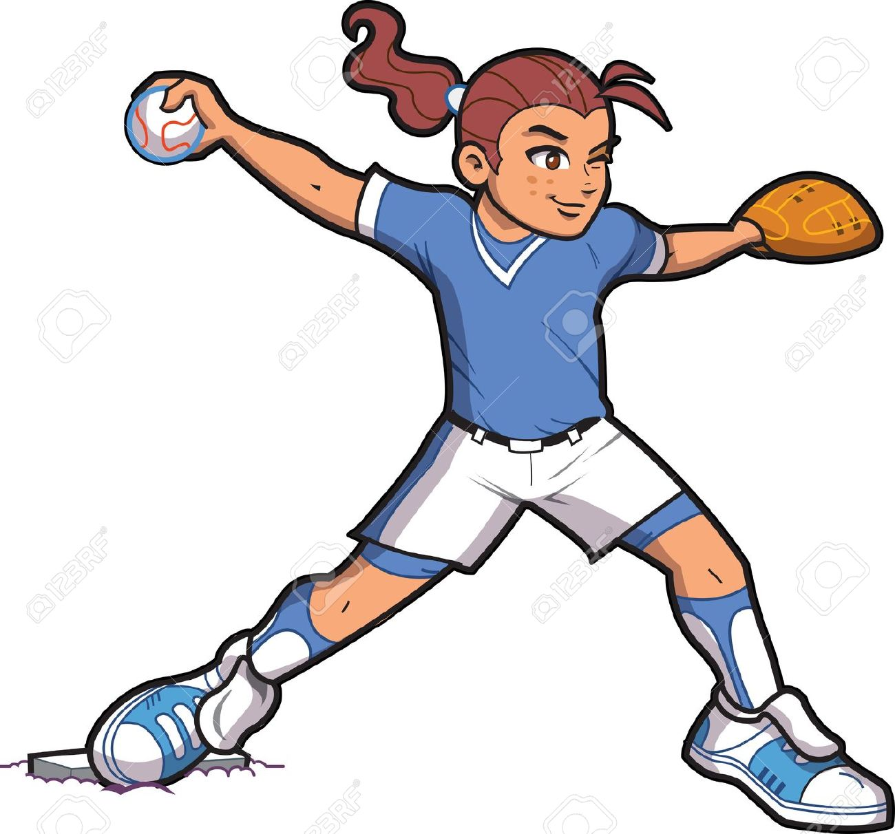 Showing post & media for Female baseball player cartoon.