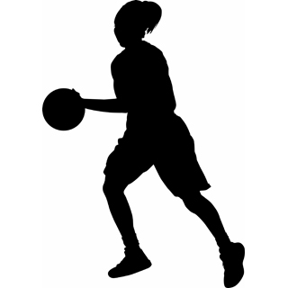 Female Basketball Player Clipart #417689.