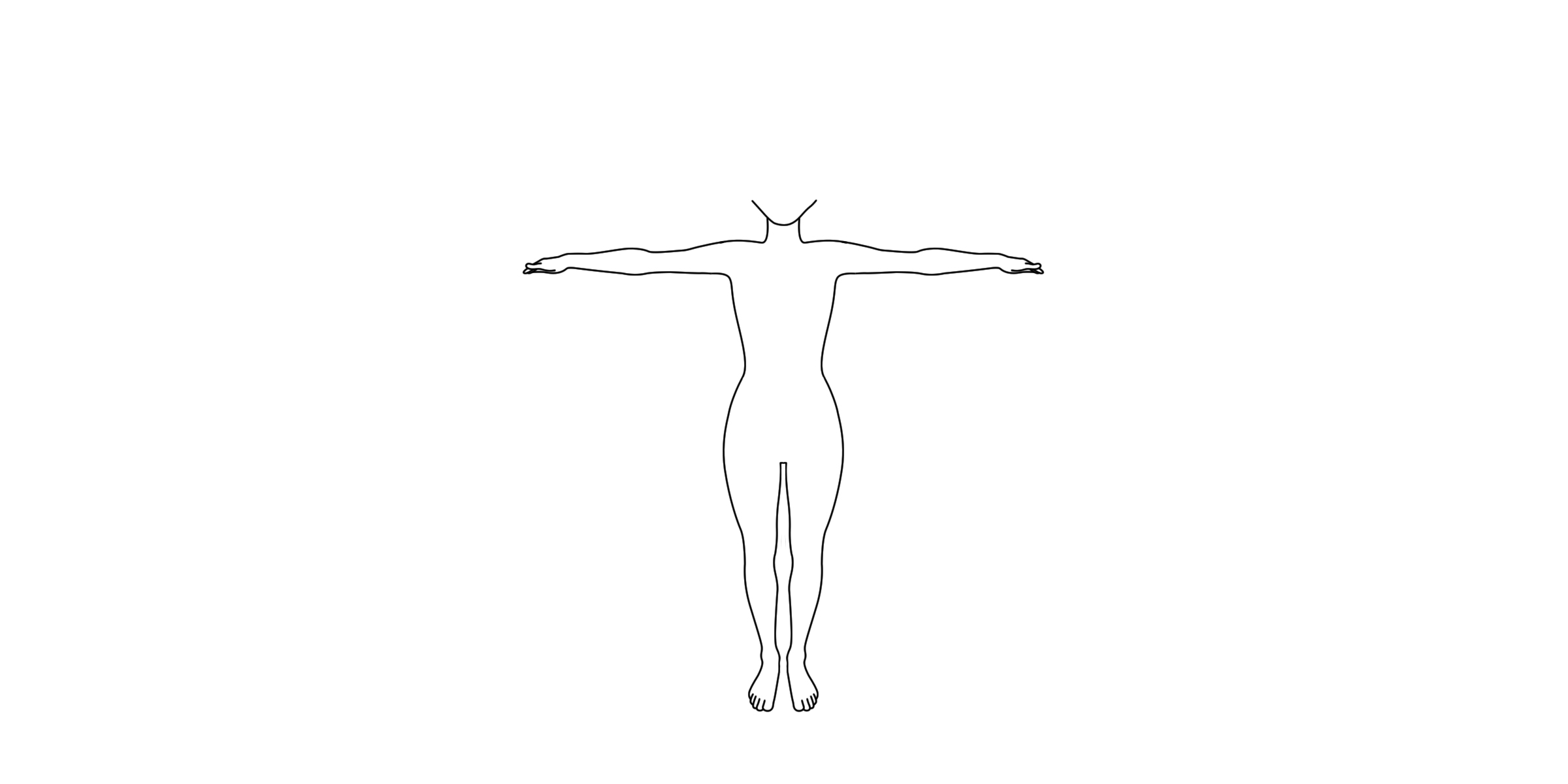drawing outline of human body free clipart girl body drawing outline clipground drawing outline of human body
