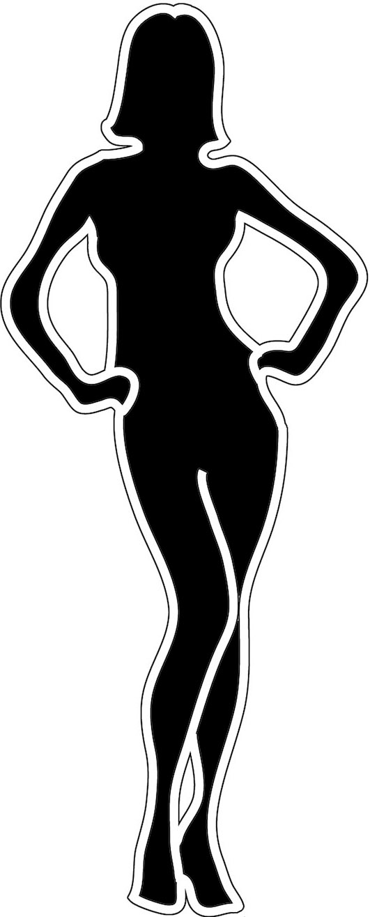 Female Body Outline Clipart Clipground
