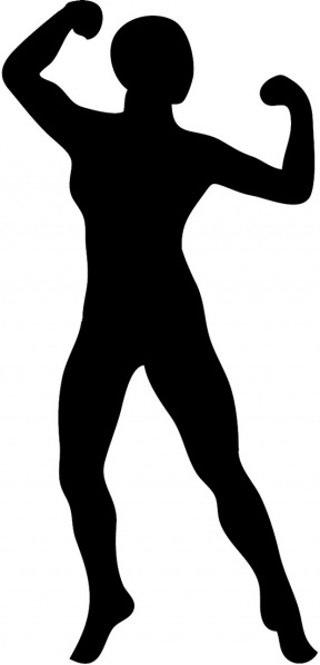 Woman Bodybuilder Cliparts.