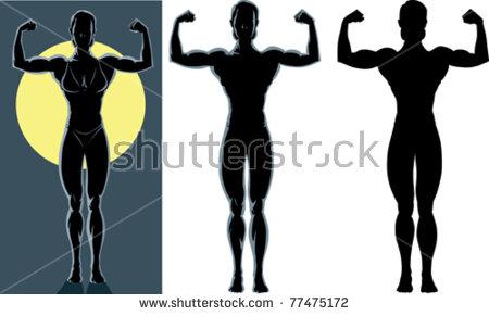 Female Bodybuilder Stock Vectors, Images & Vector Art.