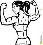 Female bodybuilding clipart.